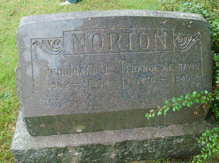 Frances Ellen Frannie <i>Davis</i> Norton
