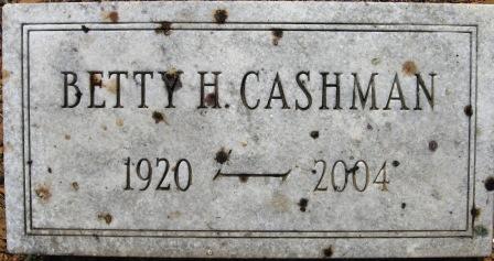 Betty <i>Heefner</i> Cashman
