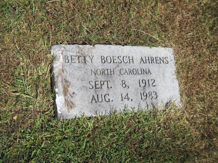 Betty <i>Boesch</i> Ahrens
