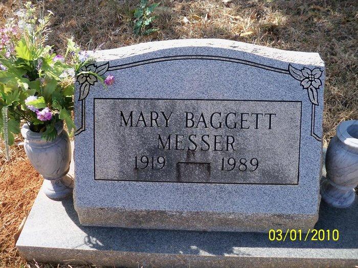 Mary Etta <i>Baggett</i> Johnson Messer