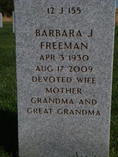 Barbara Jean <i>Morgan</i> Freeman