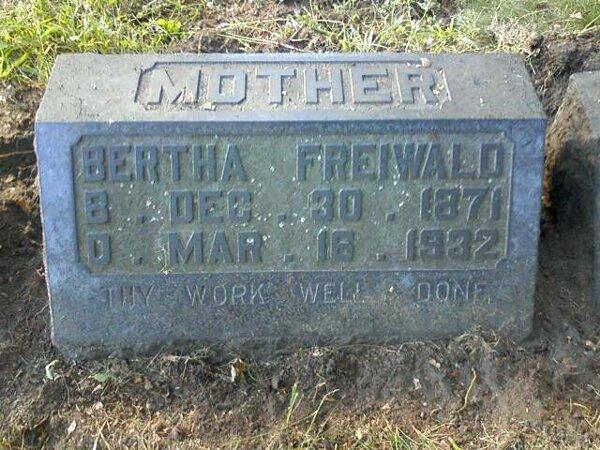 Bertha <i>Battin</i> Freiwald