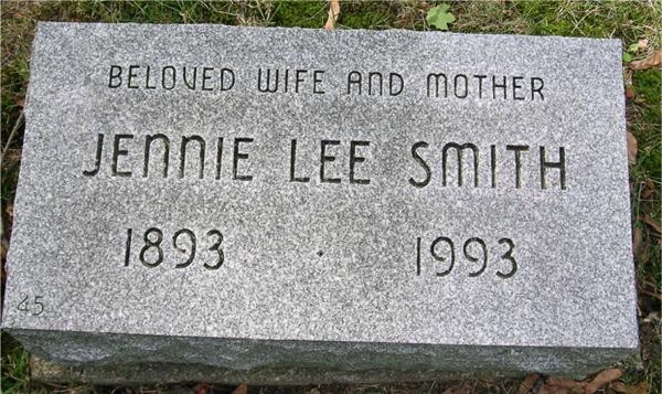 Jennie Lee <i>Tucker</i> Smith