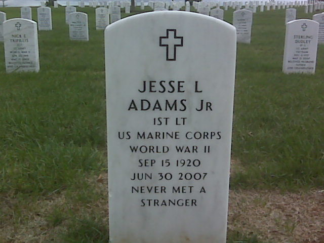Lieut Jesse L Adams, Jr