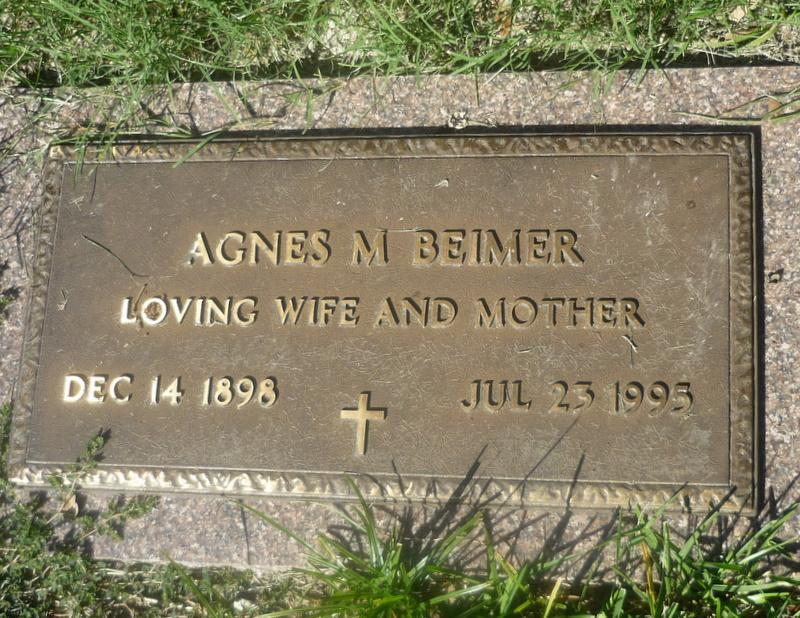 Agnes Mary <i>Schindler</i> Beimer