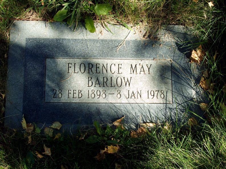 Florence <i>May</i> Barlow