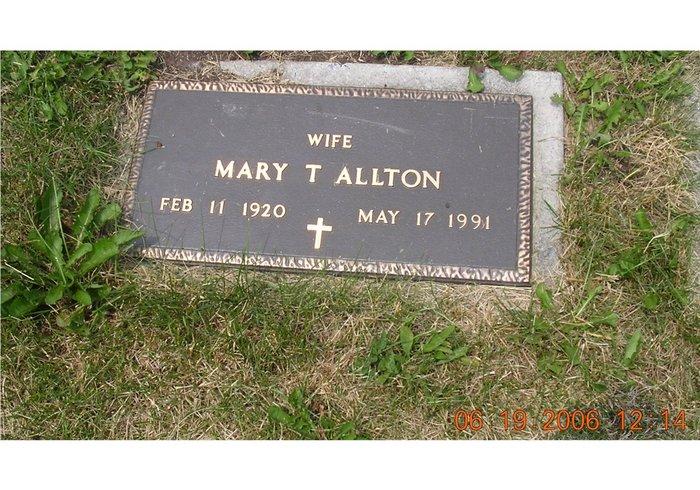 Mary <i>Burns</i> Allton