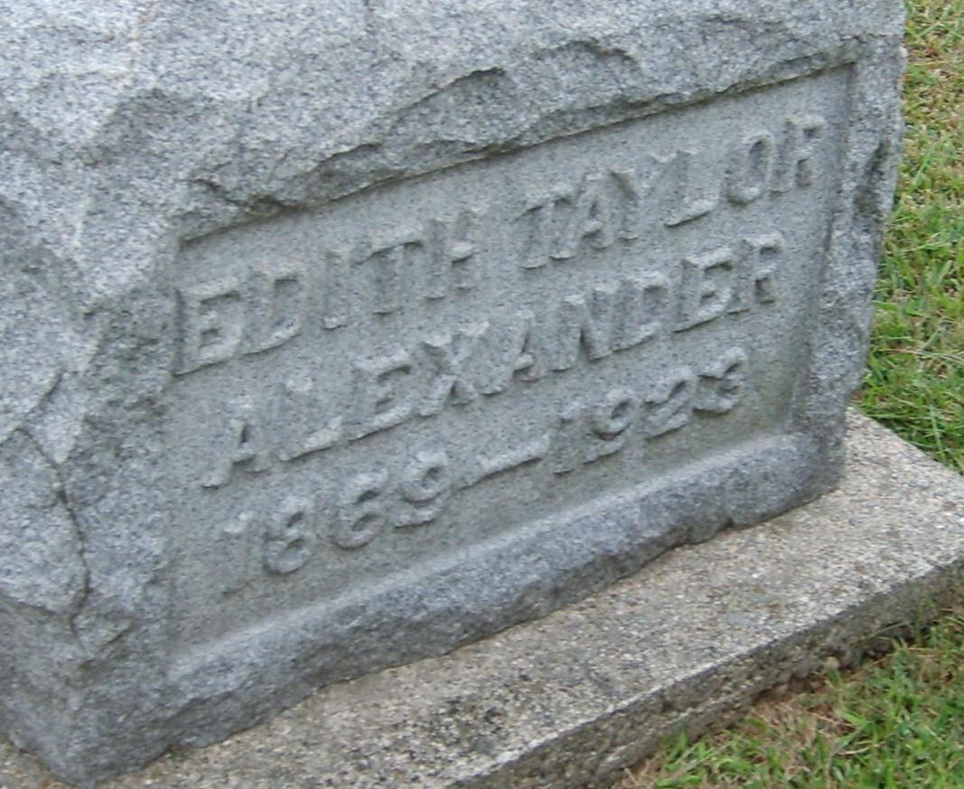 Edith Jane <i>Taylor</i> Alexander