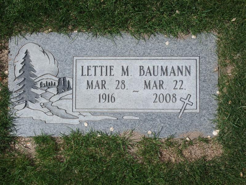 Letitia May Lettie <i>Allen</i> Baumann