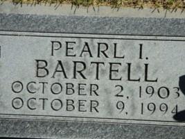 Pearl I <i>Ross</i> Bartell
