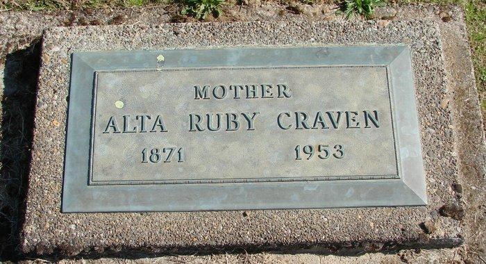 Alta Ruby <i>Robertson</i> Craven
