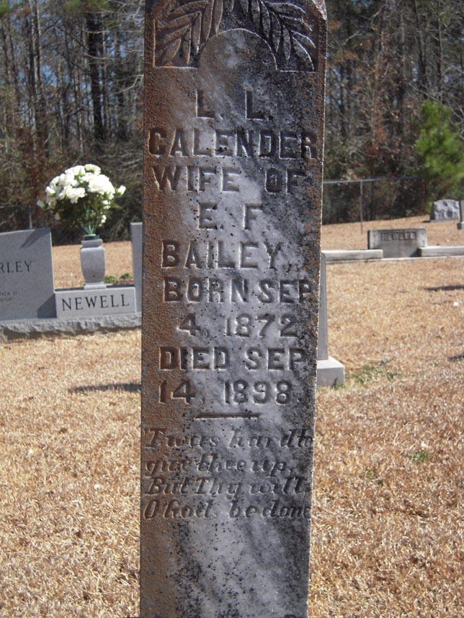 Louisa L <i>Callender</i> Bailey