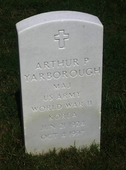 Maj Arthur P Yarborough, Sr