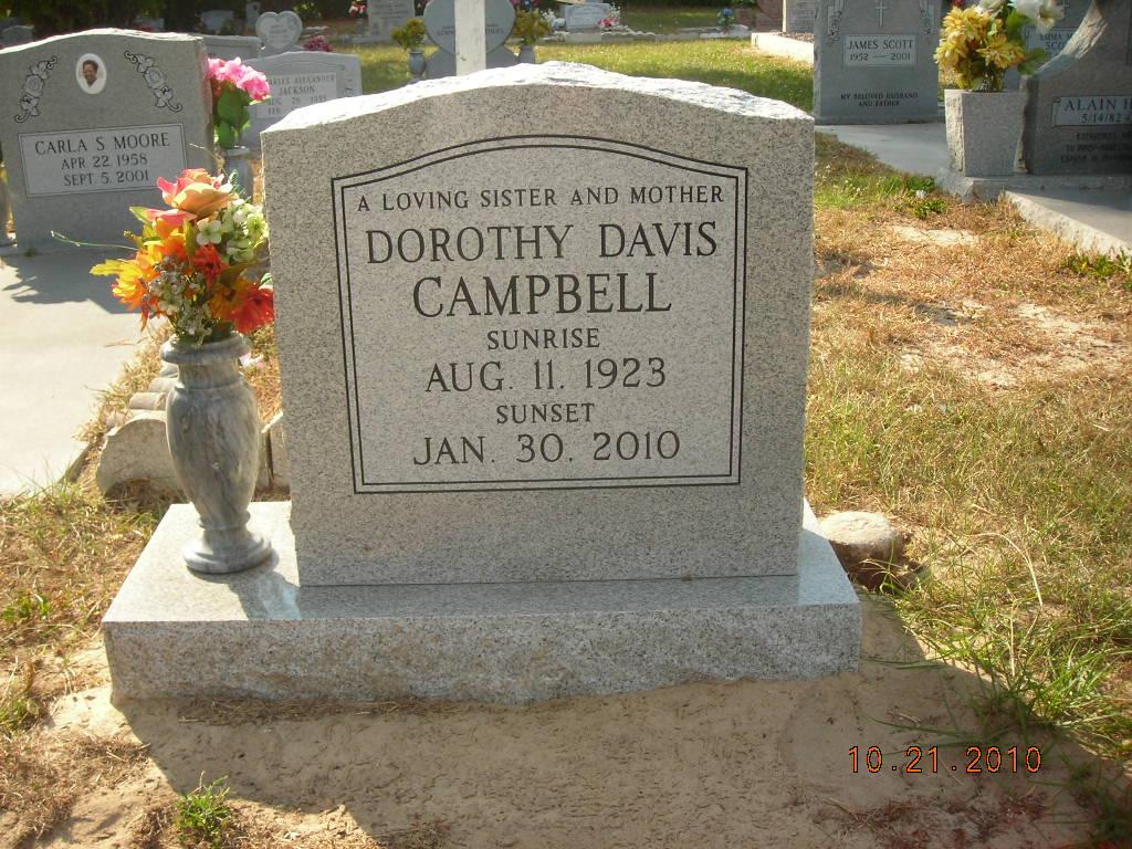 Dorothy Mae <i>Davis</i> Campbell
