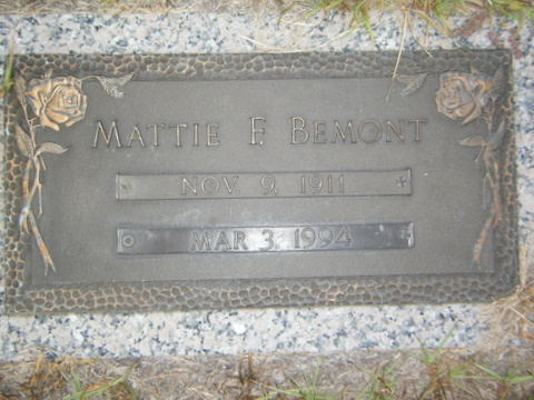 Mattie <i>Frederick</i> Bemont