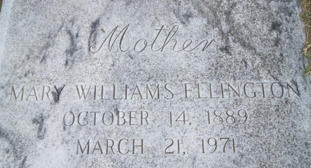 Mary <i>Williams</i> Ellington