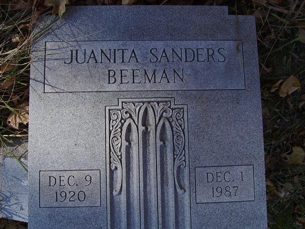 Juanita <i>Sanders</i> Beeman