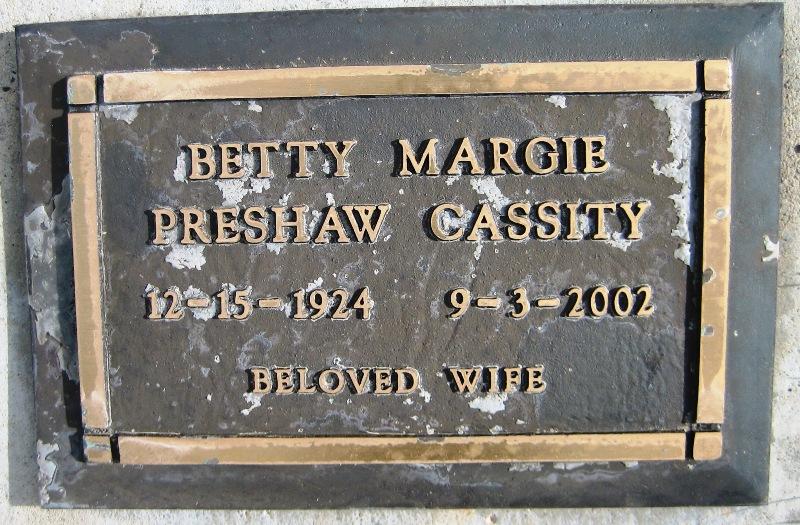 Betty Margie <i>Preshaw</i> Cassity
