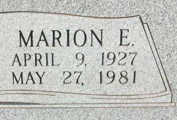Marion E Adams