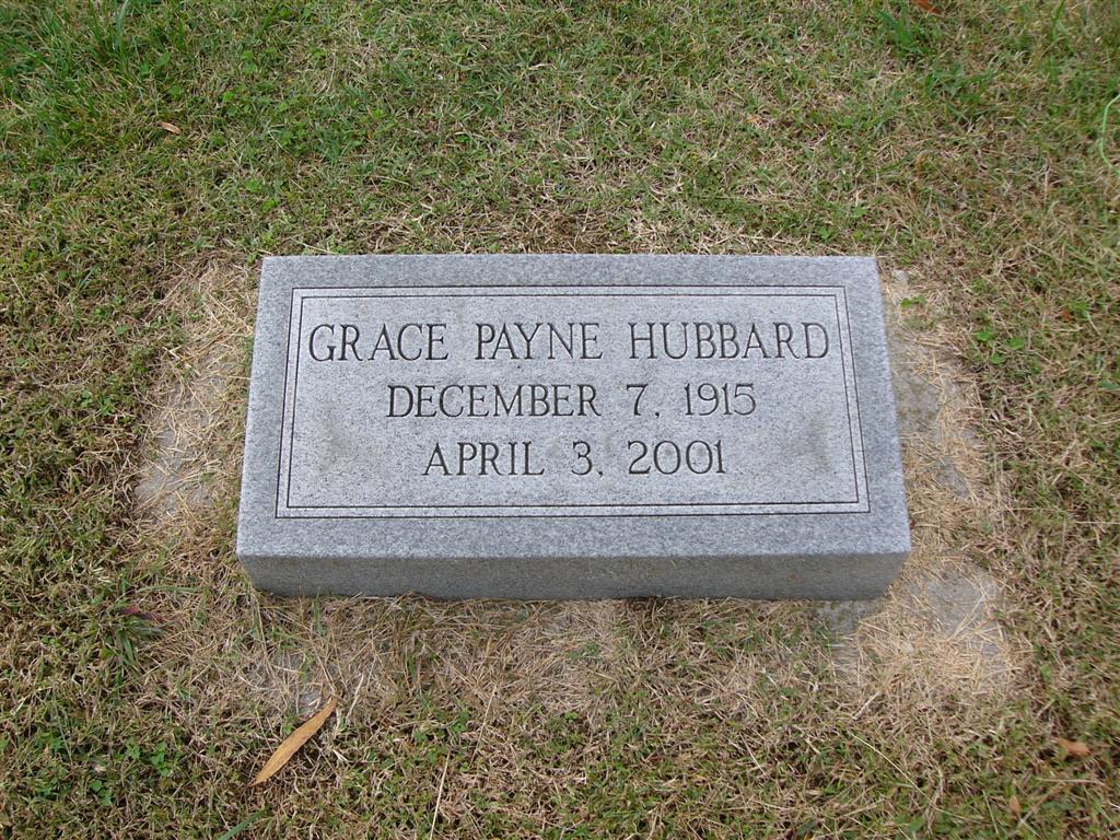 Emma Grace <i>Payne</i> Hubbard