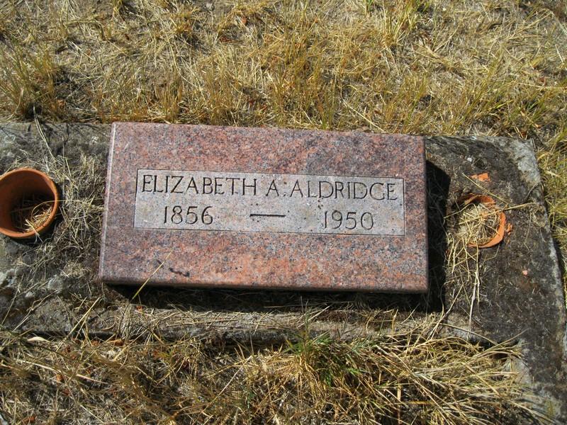 Elizabeth Ann <i>Zumwalt</i> Aldridge