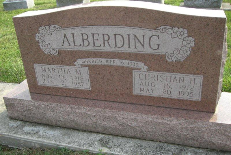 Martha Mae <i>Reed</i> Alberding