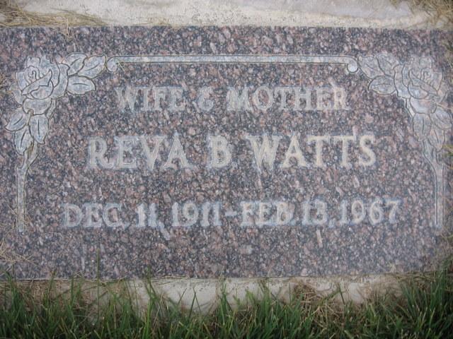 Reva <i>Bennett</i> Watts