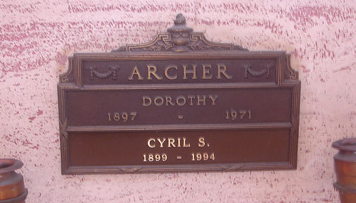 Cyril S Archer