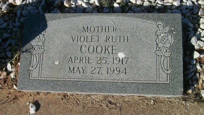 Violet Ruth <i>Badgett</i> Cooke