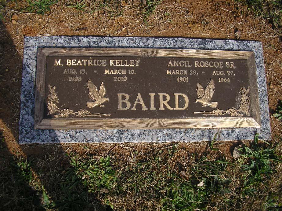 Minnie Beatrice Bea <i>Kelley</i> Baird