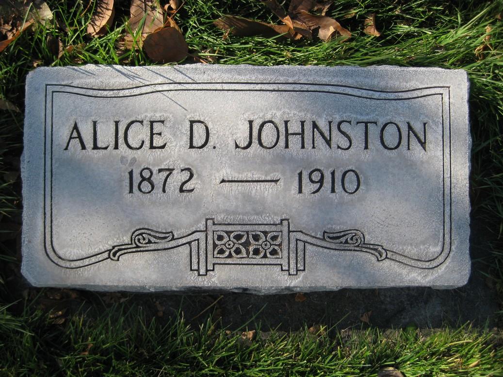 Alice <i>Duckworth</i> Johnston