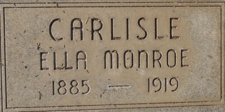 Luella Brooks Ella <i>Monroe</i> Carlisle