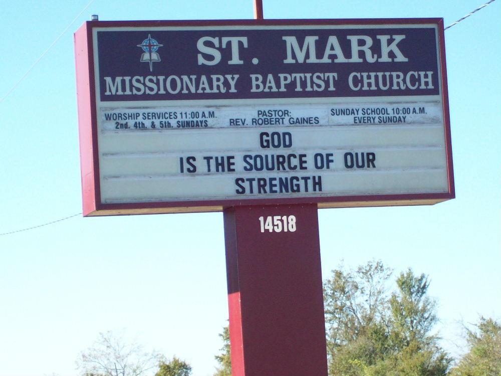 Saint Mark Missionary Baptist Church Cemetery