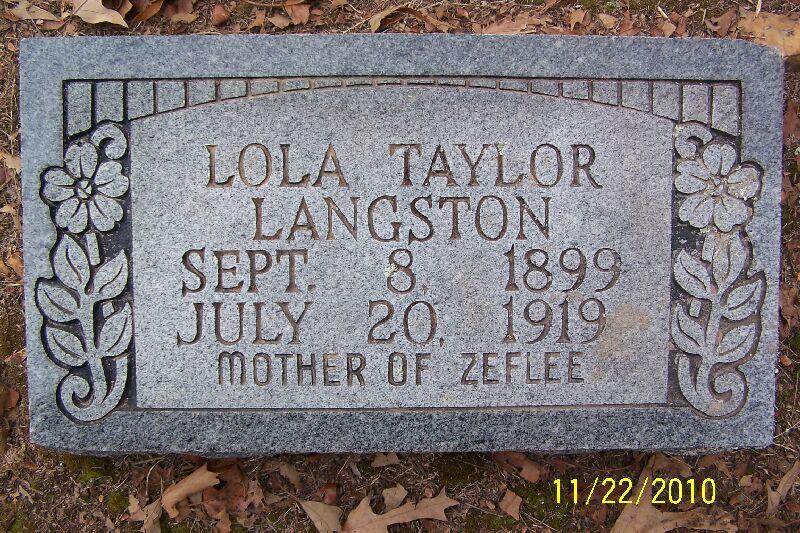 Lola <i>Taylor</i> Langston