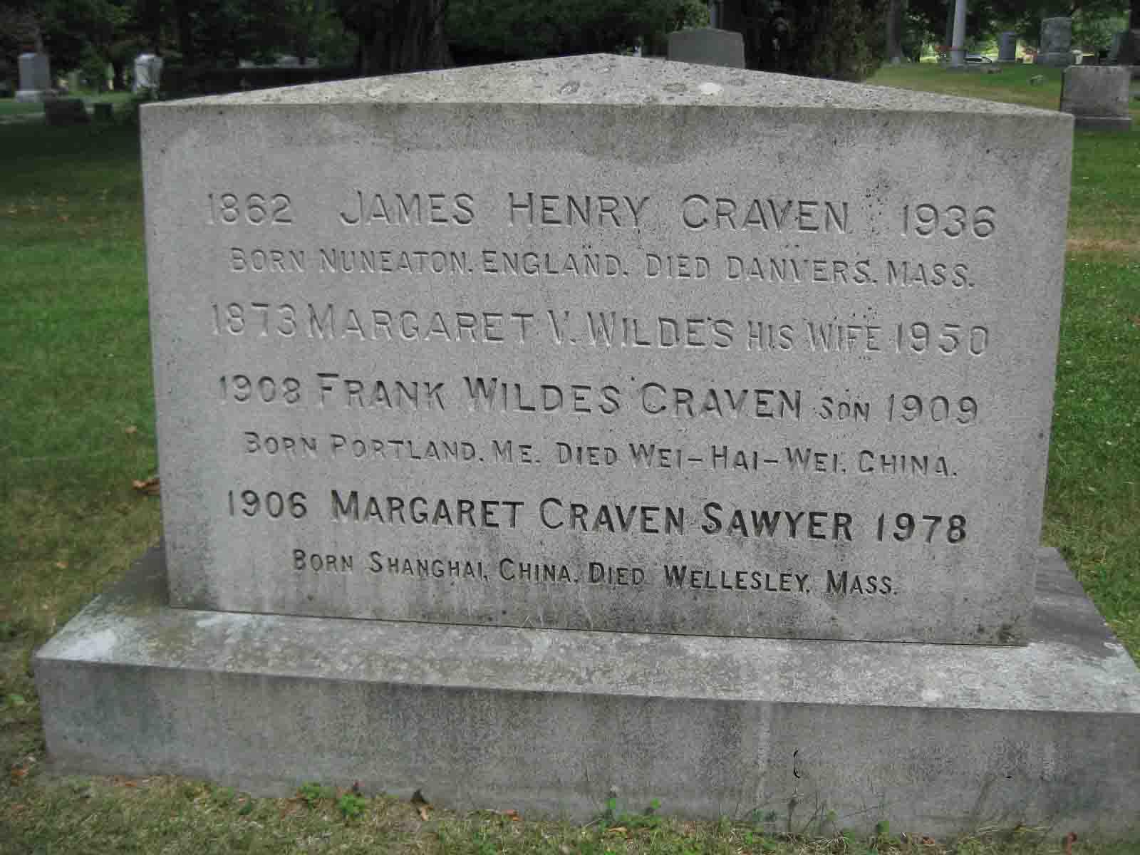 Margaret V. <i>Wildes</i> Craven