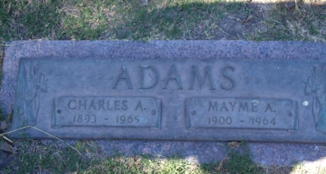 Mayme Alice <i>Rutherford</i> Adams