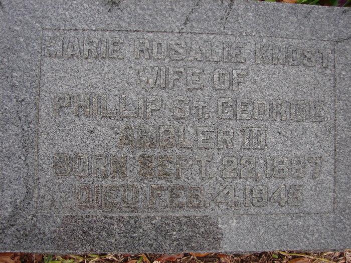 Marie Rosalie <i>Knost</i> Ambler