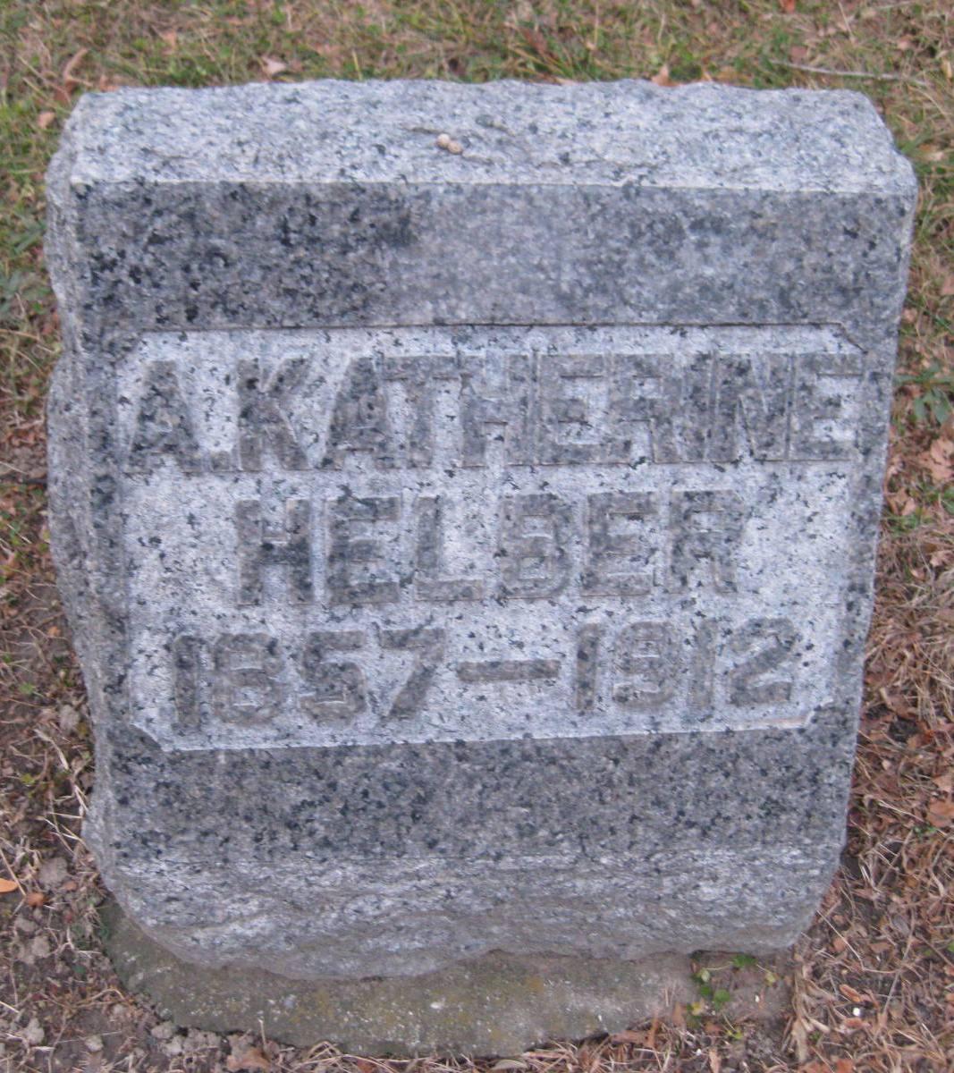 Anna Katherine <i>Kuebler</i> Helber