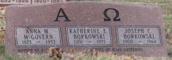 Katherine E <i>McGovern</i> Borkowski