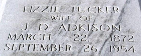 Elizabeth Lizzie <i>Tucker</i> Adkison