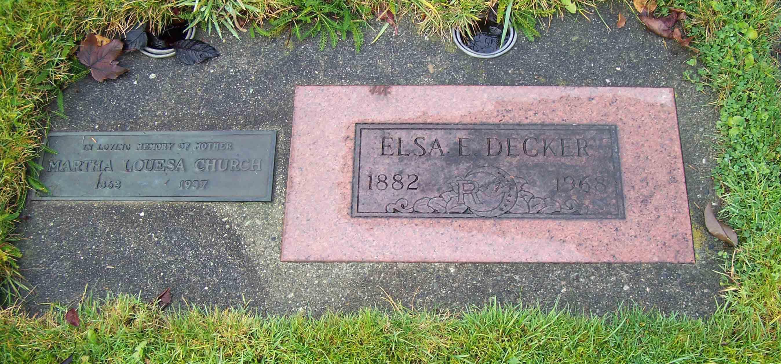 Elsa Estella <i>Church</i> Decker
