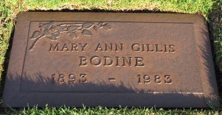 Mary Ann Gillis <i>Martin</i> Bodine