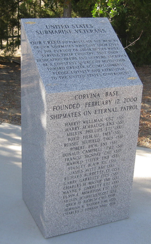 Profile photo:  USS Corvina Monument