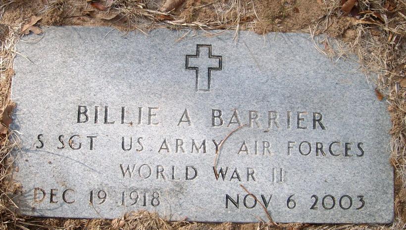 Billie Allbright WW II Barrier