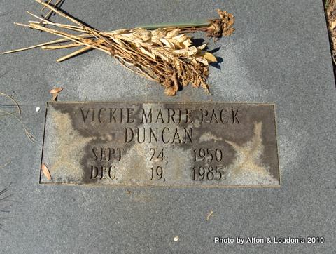Vickie Marie <i>Pack</i> Duncan