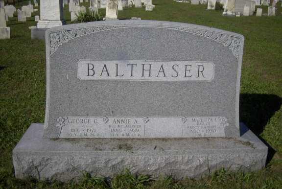 Annie Amelia <i>McAllister</i> Balthaser
