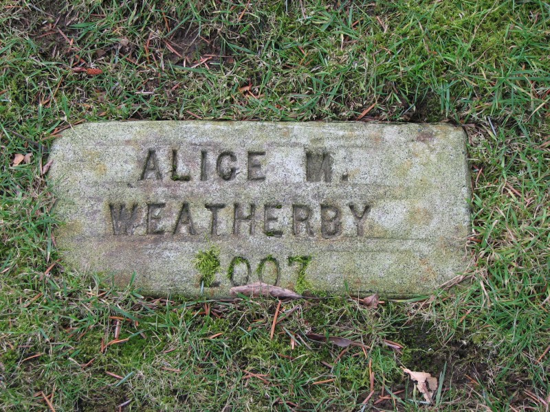 Alice May <i>Graves</i> Weatherby