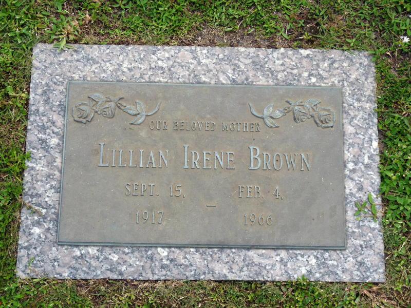 Mrs Lillian Irene Lil <i>Cox</i> Brown