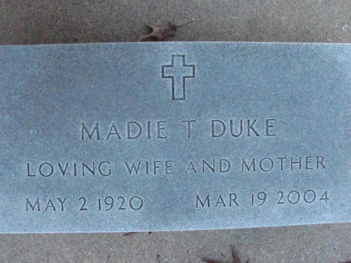 Madie Trucilla Trudy <i>LaHue</i> Duke