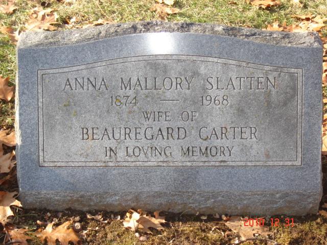 Anna Mallory <i>Slatten</i> Carter